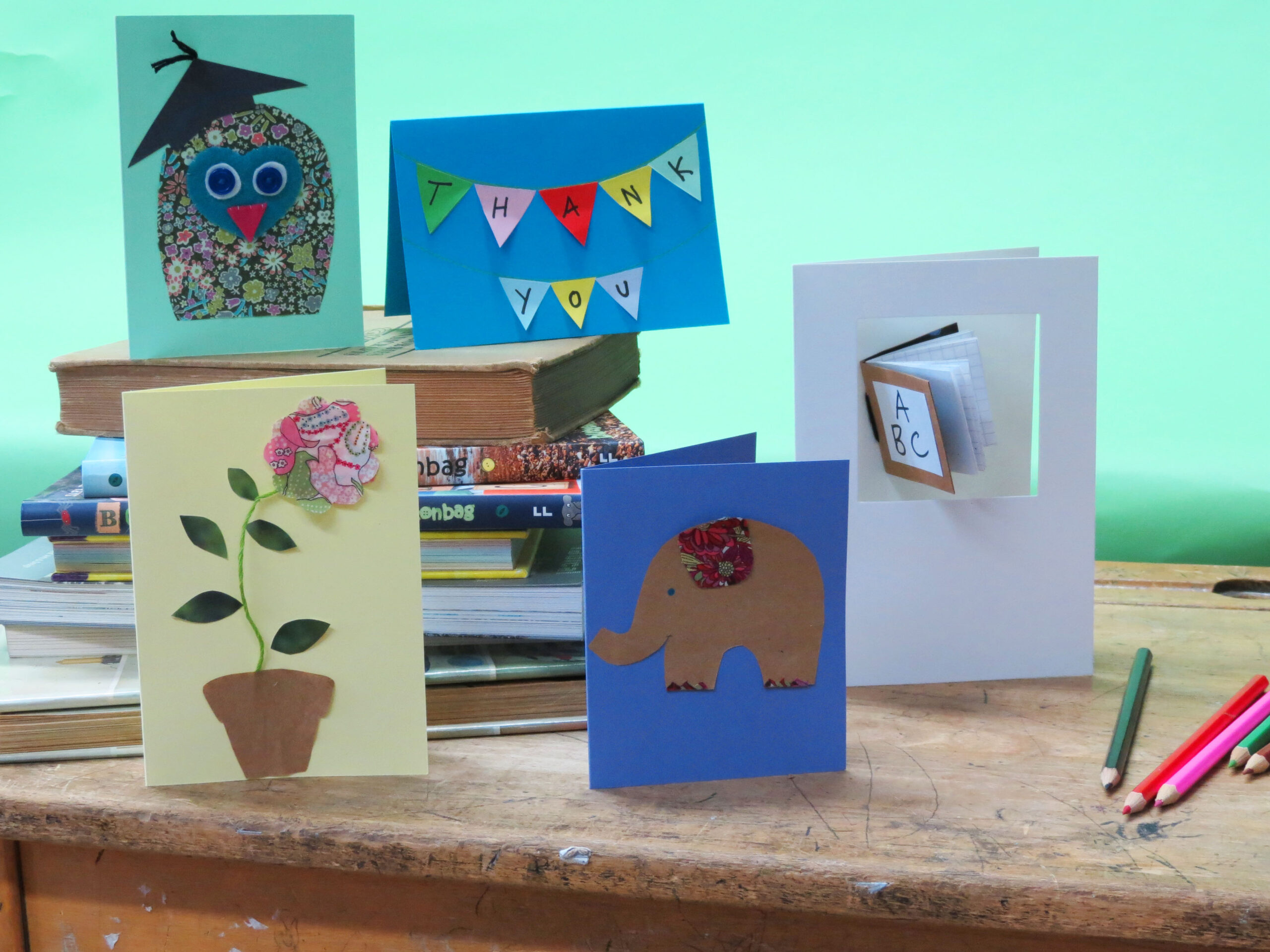 Easy home-made Thank-you cards.