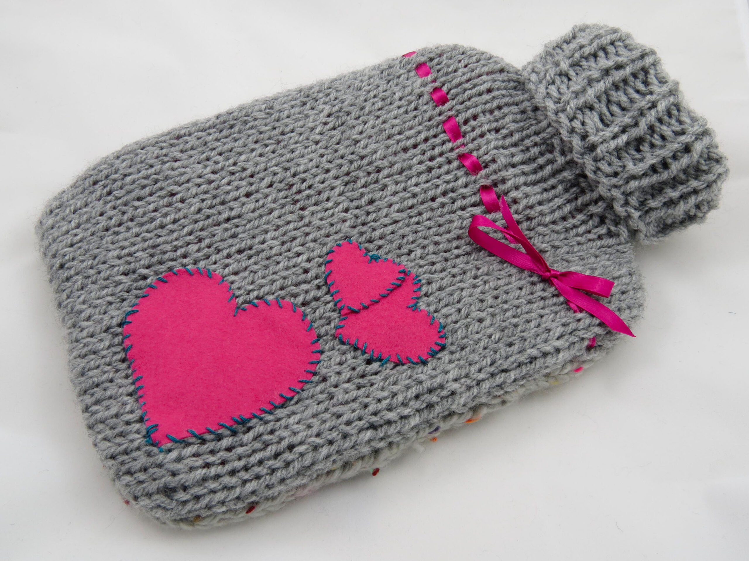 grey hot water bottle cover
